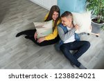 young  lovers boyfriend and... | Shutterstock . vector #1238824021