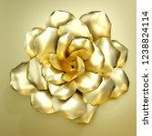3d rendering golden flower... | Shutterstock . vector #1238824114