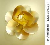 3d rendering golden flower...   Shutterstock . vector #1238824117
