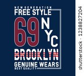 free style new york brooklyn... | Shutterstock .eps vector #1238827204