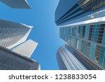 upward view of skyscrapers... | Shutterstock . vector #1238833054
