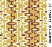 seamless abstract mid century... | Shutterstock .eps vector #1238833414