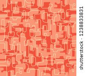 seamless abstract mid century... | Shutterstock .eps vector #1238833831