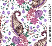 seamless pattern with pink and... | Shutterstock .eps vector #1238856007