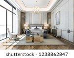 3d rendering beautiful classic...   Shutterstock . vector #1238862847