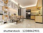 3d rendering white minimal...   Shutterstock . vector #1238862901
