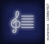 musical notation with treble... | Shutterstock .eps vector #1238867827