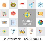 science type icon set.... | Shutterstock .eps vector #1238870611