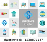 internet icon set. web camera... | Shutterstock .eps vector #1238871157