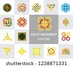 celtic ornament icon set....   Shutterstock .eps vector #1238871331