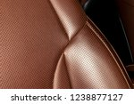 modern luxury car brown leather ... | Shutterstock . vector #1238877127