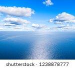 Aerial View Of A Blue Sea Wate...