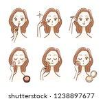 makeup woman  | Shutterstock .eps vector #1238897677