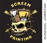 screen printing tools | Shutterstock .eps vector #1238907244
