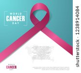 world cancer day background.... | Shutterstock .eps vector #1238914084