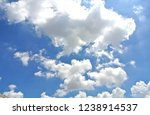 blue sky with white clouds. | Shutterstock . vector #1238914537