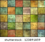Abstract Multiple Color Square...