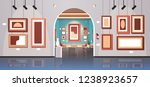 modern art gallery in museum... | Shutterstock .eps vector #1238923657