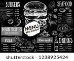 restaurant cafe menu  template... | Shutterstock . vector #1238925424