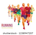running marathon  people run  ... | Shutterstock .eps vector #1238947207