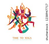yoga colorful fitness concept.... | Shutterstock .eps vector #1238947717