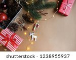 christmas. new year. beautiful... | Shutterstock . vector #1238955937