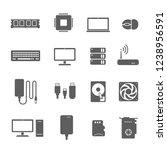 computer components vector...   Shutterstock .eps vector #1238956591