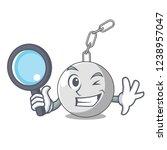 detective wrecking ball hanging ... | Shutterstock .eps vector #1238957047