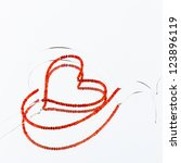 Bead Heart Formed Of Wire And...