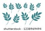 vector leave. silhouette | Shutterstock .eps vector #1238969494