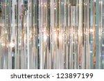 luxury crystal chandelier....   Shutterstock . vector #123897199