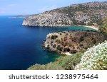 thasos  island in aegean sea ... | Shutterstock . vector #1238975464