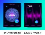 abstract sound poster with wave ... | Shutterstock .eps vector #1238979064