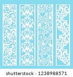 set of decorative lace borders...