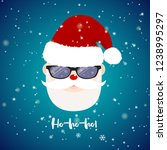 santa claus with sunglasses on...   Shutterstock .eps vector #1238995297