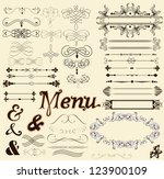 Vector Set Of Calligraphic...