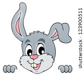 image with rabbit theme 5  ... | Shutterstock .eps vector #123900511