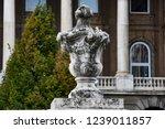 vase shaped decoration in buda... | Shutterstock . vector #1239011857