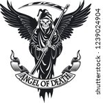 Angel Of Death With Wings And...