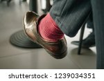 businessman at a meeting in a... | Shutterstock . vector #1239034351
