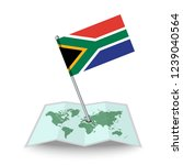 map with flag of south africa...   Shutterstock .eps vector #1239040564