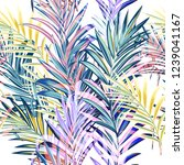 collection of colorful palm... | Shutterstock .eps vector #1239041167
