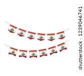 lebanese flag  vector... | Shutterstock .eps vector #1239046741