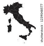 high detailed   black map of... | Shutterstock .eps vector #1239048577