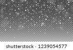 falling snow on transparent... | Shutterstock .eps vector #1239054577