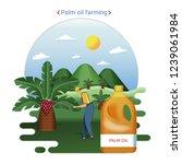 flat farm landscape... | Shutterstock .eps vector #1239061984