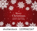 merry christmas and happy new... | Shutterstock .eps vector #1239062167