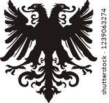 heraldic eagle silhouette | Shutterstock .eps vector #1239063274