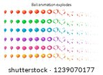 set of colored balloons.... | Shutterstock .eps vector #1239070177