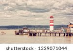 lighthouse in podersdorf am see ... | Shutterstock . vector #1239071044